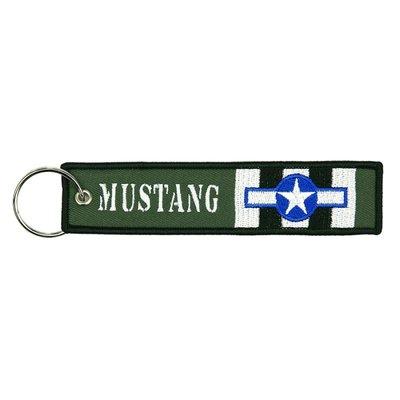 P-51 Mustang USAF keyring keychain bagagelabel