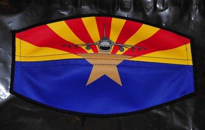 Flight helmet visor cover F-16 sq Arizona ANG