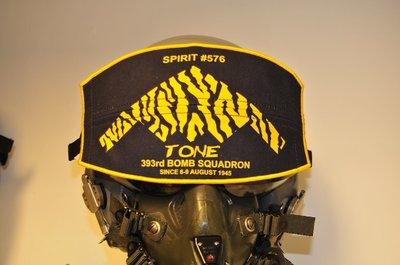 Flight helmet visor cover 393rd Bomb Squadron