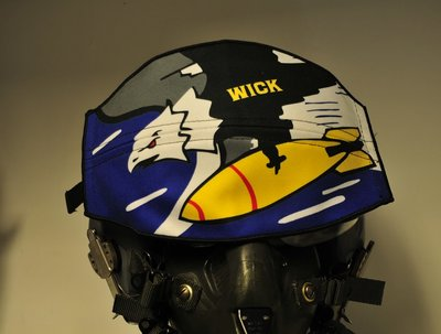 Flight helmet visor cover 69th Bomb Squadron