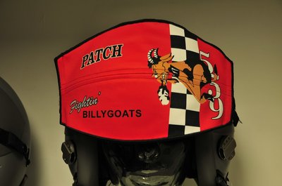 Flight helmet visor cover Fightin Billygoats 559 sq pilot