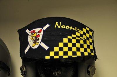 Flight helmet visor cover USAF squadron pilot