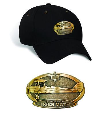 Tigermoth Luxury baseball cap with metal emblem (brass cap's) Tigermoth