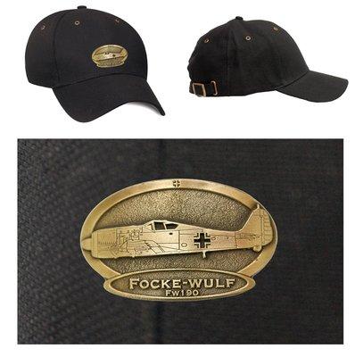 FW 190 Focke Wulf Luxury baseball cap with metal emblem (brass cap's) FW 190 Focke Wulf