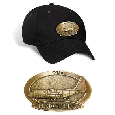 C-130 Hercules Luxury baseball cap with metal emblem C-130 Hercules brass cap