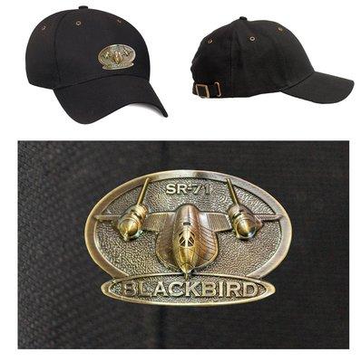 SR-71 Blackbird Luxury baseball cap with metal emblem SR-71 Blackbird brass cap