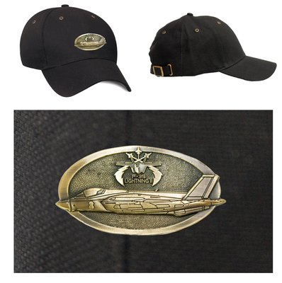 F-35 Lightning Luxury baseball cap with metal emblem F-35 Lightning brass cap