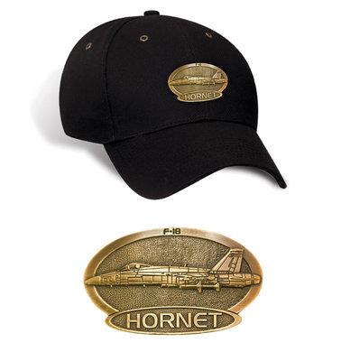F-18 Hornet Luxury baseball cap with metal emblem F-18 Hornet brass cap