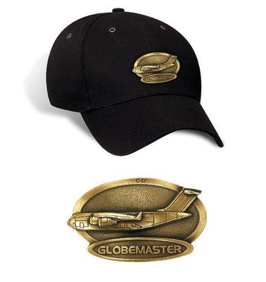 C-17 Globemaster Luxury baseball cap with metal emblem C-17 Globemaster brass cap