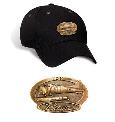 Beaver Luxury baseball cap with metal emblem Beaver brass cap