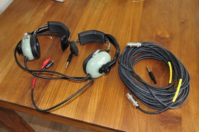David Clark headset with noise-shielded microphone H5010 with long cable
