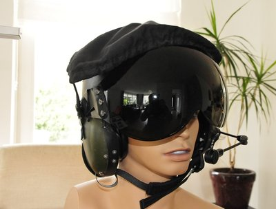 RAF MK.IV flight helmet with display head