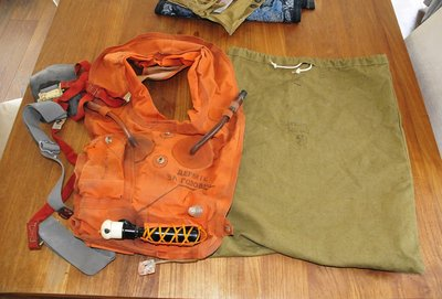 Orange pilot survival vest Russian AF