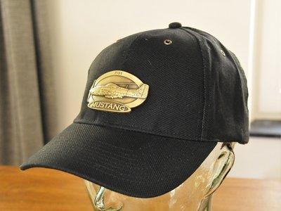 P-51 Mustang Luxury baseball cap with metal emblem P-51 Mustang brass cap