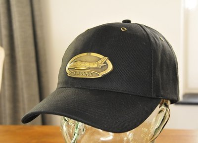 F-86 Sabre Luxury baseball cap with metal emblem F-86 Sabre brass cap