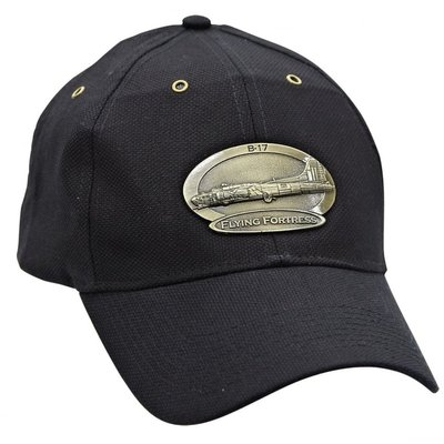 B-17 Flying Fortress Luxury baseball cap with metal emblem B-17 Flying Fortress brass cap