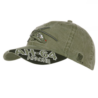 Base Ball Cap AH-64 Apache stone washed