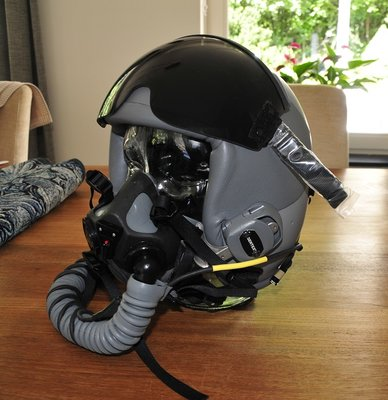 Gentex HGU-55/P flight helmet + MBU-20/P oxygen mask