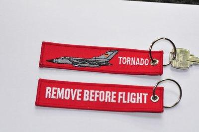 Tornado Keyring Keychain Remove before flight