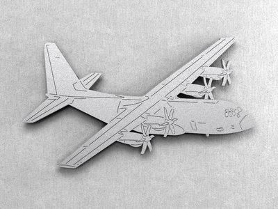 Magnetbox C-130 Hercules silver color