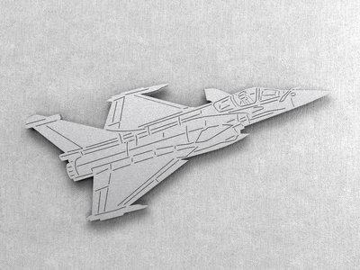 Magnetbox Dassault Rafale silver color
