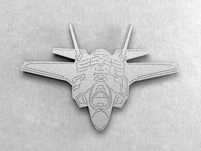 Magnetbox F-35 Lightning II front silver color