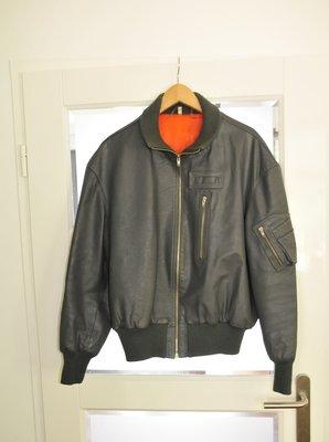 Leather KLu flight jacket size 52