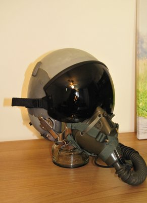 Gentex HGU-55/P flight helmet + MBU-5 oxygen mask