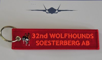 32nd Wolfhounds Soesterberg AB keychain keyring