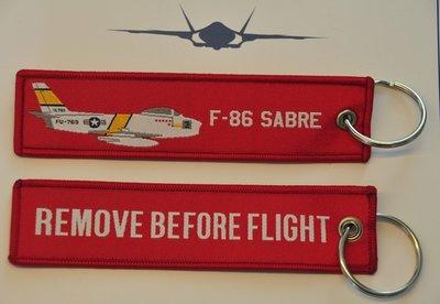 F-86 Sabre keyring keychain bagage label