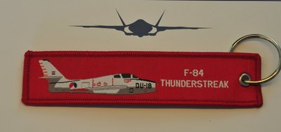 F-84 Thunderstreak keyring keychain bagage label