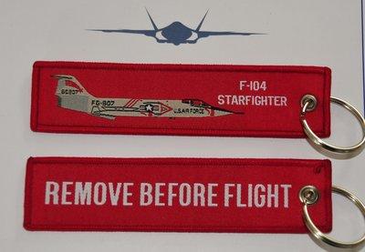 F-104 Starfighter keyring keychain Remove Before Flight