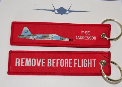 F-5E Aggressor woven keyring keychain babage label