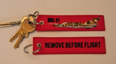 Mikoyan-Gurevich Mig-21 embroidered keyring keychain babage label