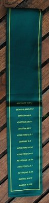 USAF unit green pilot scarve B-2 Sq
