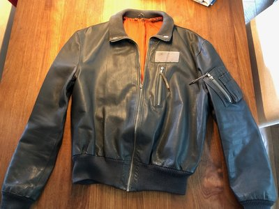 leather MarineLuchtvaartDienst MLD flight jacket size 56