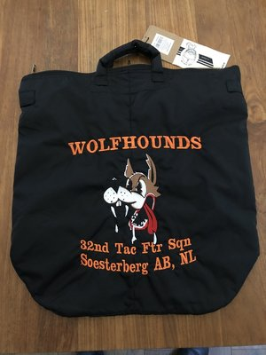 Helmet bag 32nd TFS Wolfhounds embroidery Soesterberg AB, NL black color