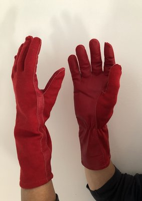 Nomex Fighter Pilot Gloves color red (the Red Arrows color)