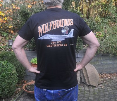 32nd TFS Wolfhounds F-15C Eagle T-shirt