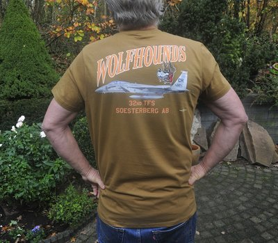 32nd TFS Wolfhounds T-shirt BDU Brown color