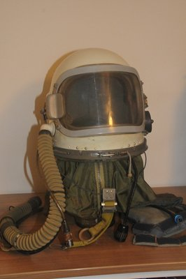 Russian AF GSh6A high altitude pressure flight helmet