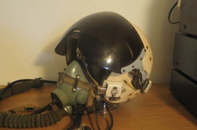 Russian Air Force ZSh-5 flight helmet with KM-34 oxygen mask