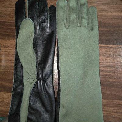 Nomex Fighter Pilot Gloves color green / black