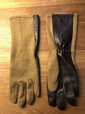 Nomex Fighter Pilot Gloves color brown