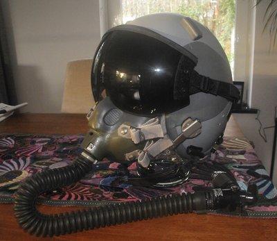 Gentex HGU-55/P flight helmet + green MBU-12 oxygen mask + CR60 connector