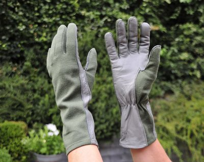 Nomex Fighter Pilot Gloves color sage green