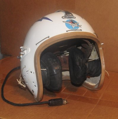 P-4 flight helmet USAF with F-101 Voodoo markings