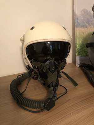 Gueneau 316 flight helmet with MBU-5 oxygen mask Luftwaffe 51Sq helmetbag