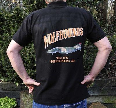 32nd TFS Wolfhounds Polo shirt black F-4E Phantom