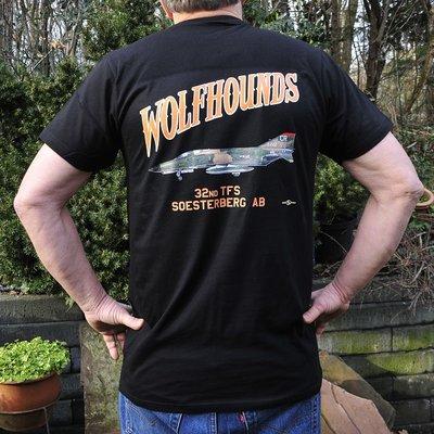 32nd TFS Wolfhounds T-shirt black F-4E Phantom